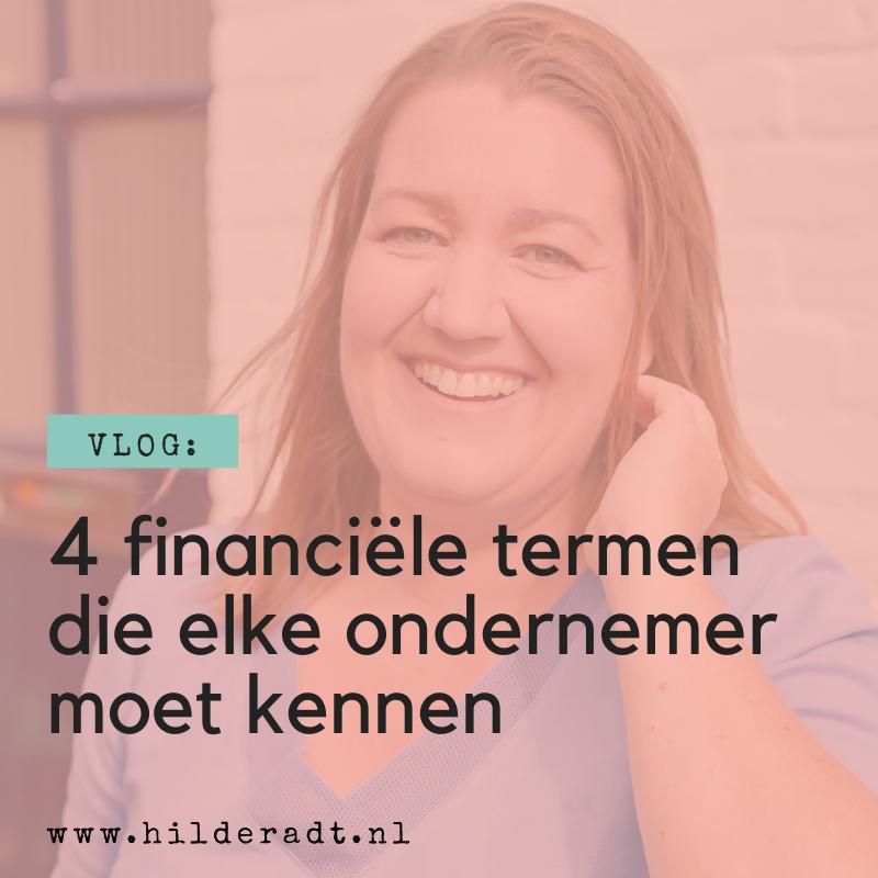 4 financiële termen die elke ondernemer moet kennen