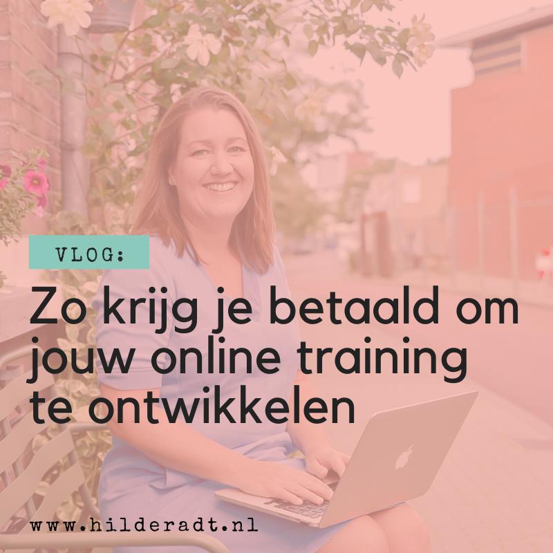 Zo krijg je betaald om jouw online training te ontwikkelen